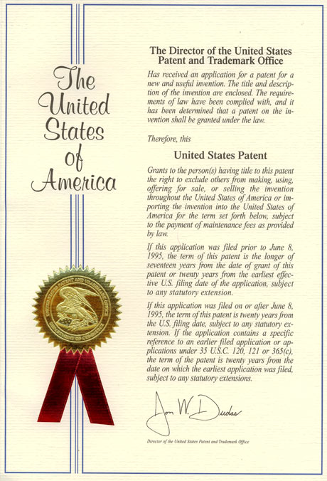 Patents and certificates 1